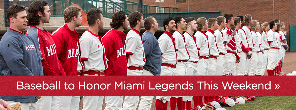 Baseball to Honor Miami Legends This Weekend » Photo of baseball team lined up on the side of the field