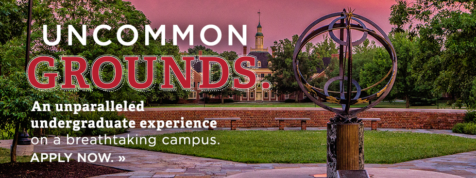 Uncommon Grounds. An unparalleled undergraduate experience on a breathtaking campus. Apply Now. » Th sundial and MacCracken Hall underneath a brilliant pink sunset