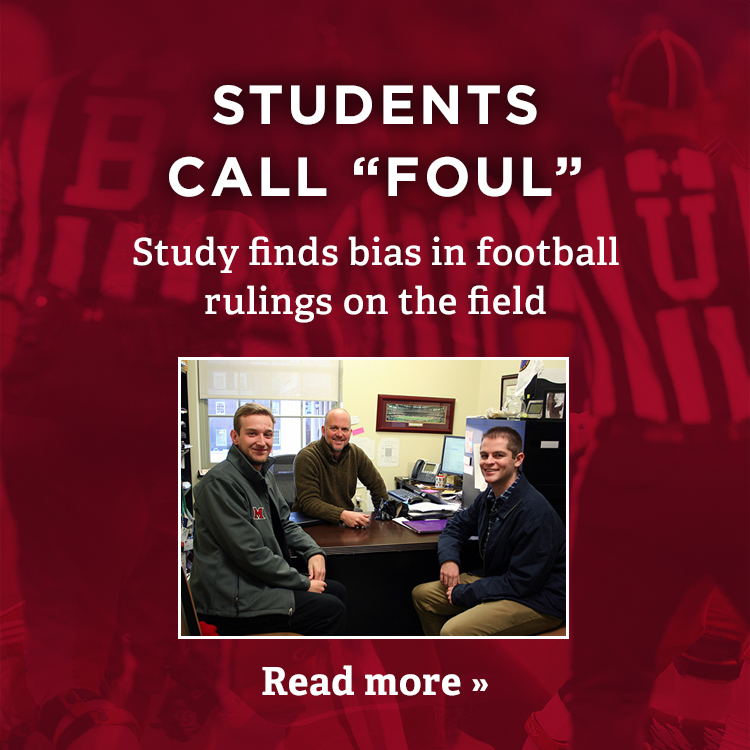 Students call 'foul'. Study finds bias in football rulings on the field. Read more »