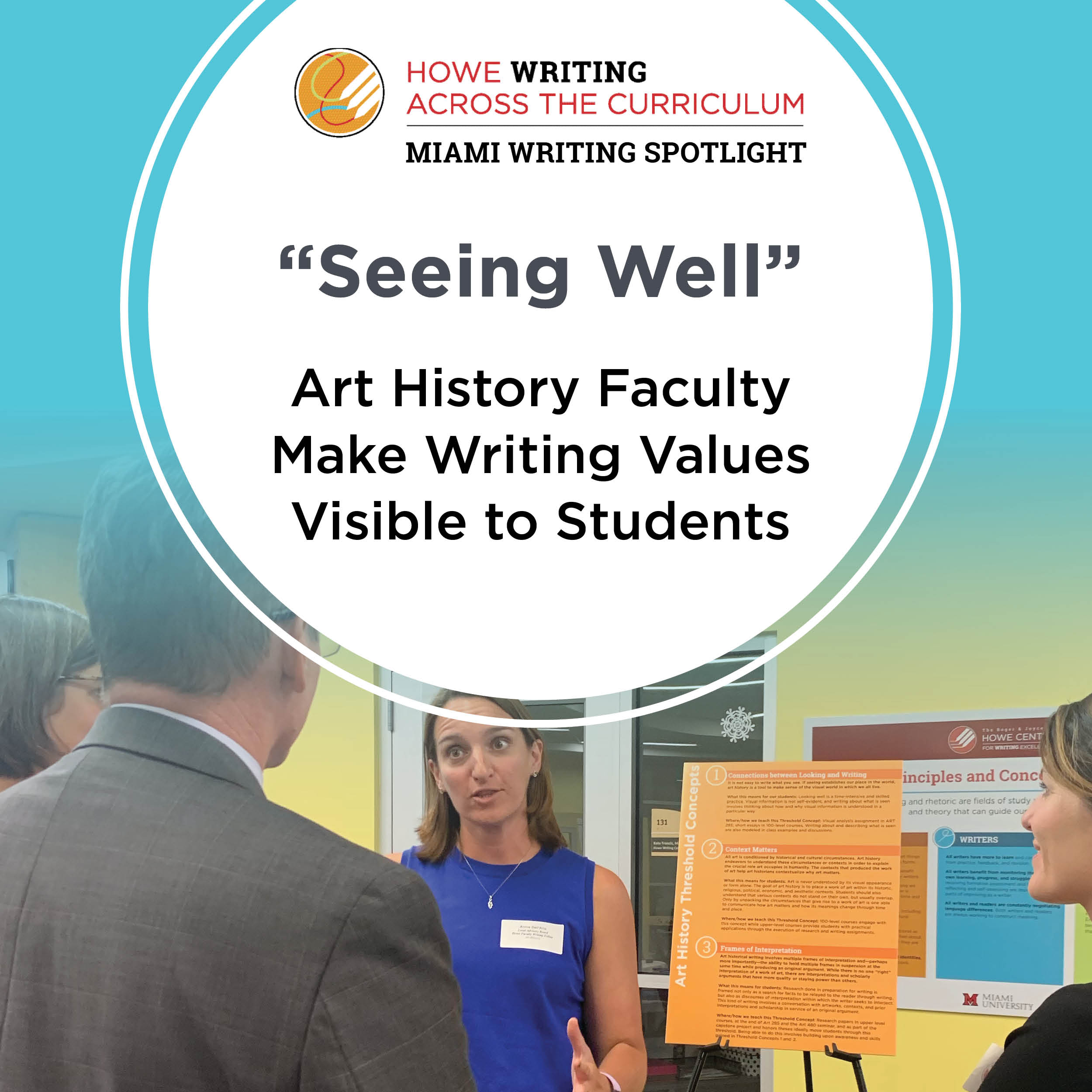 """Seeing Well"": Art History Faculty Make Writing Values Visible to Students"