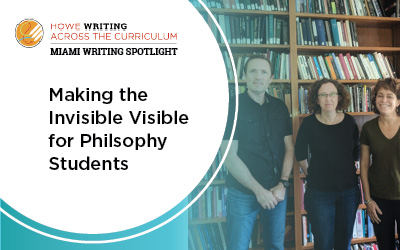 making the invisible visible for philosophy students