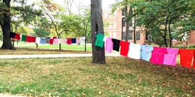 Clothesline project at the seal