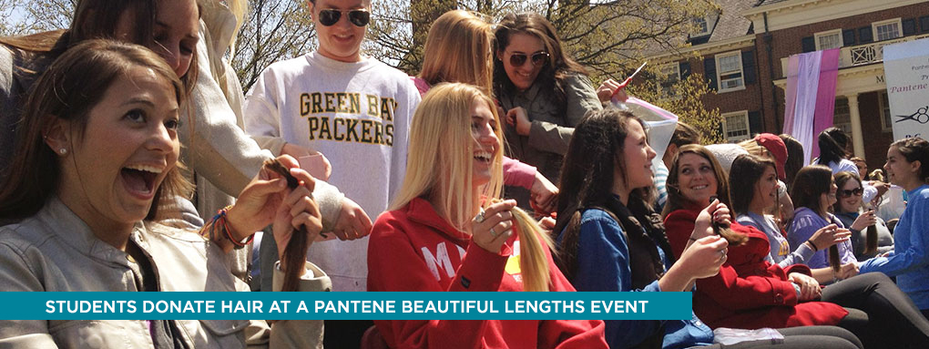 Donating hair the the Pantene Beautiful Lengths event