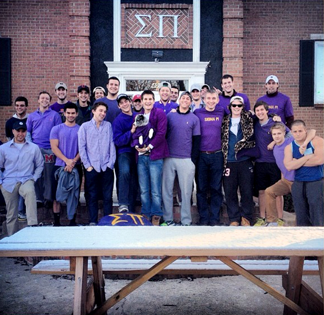 Sigma Pi wears purple shirts