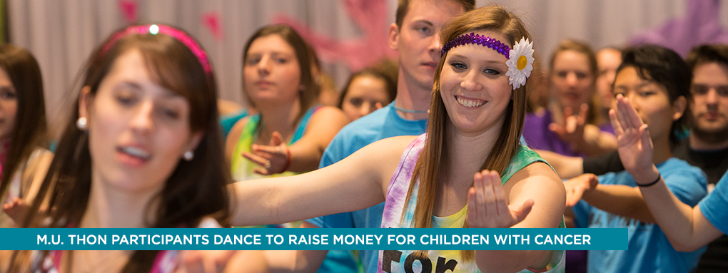 M.U. Thon participants dance to raise money for children with cancer