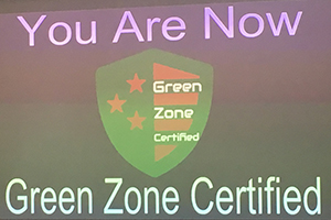 You are now Green Zone certified