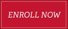 Red rectangular button with the words ENROLL NOW in white text