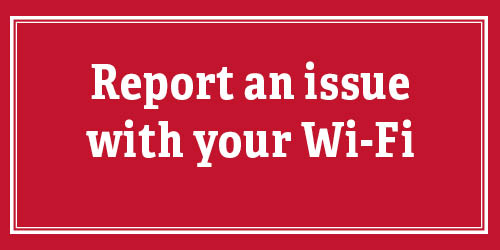 Red button that says 'Report an issue with your Wi-Fi'