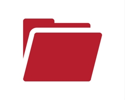 Red graphic folder