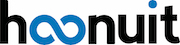Hoonuit logo in blue and black letters