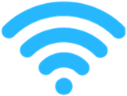 Blue fan of the Wi-Fi logo