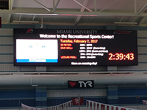 Aquatics Center scoreboard