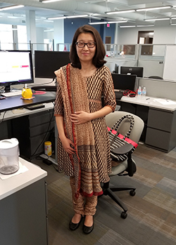 Kelly Geng wearing her traditional Hindu garb