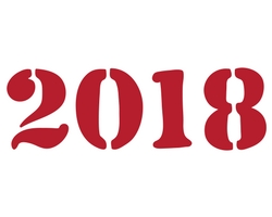 2018 in big red letters