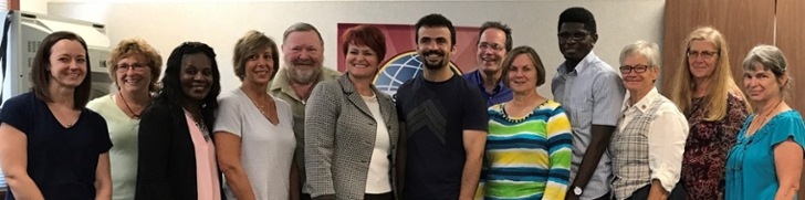 Members of the Oxford Toastmasters group as of August 2017