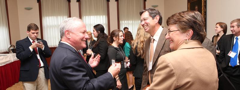 William Kristol conversing at Janus Forum 2013