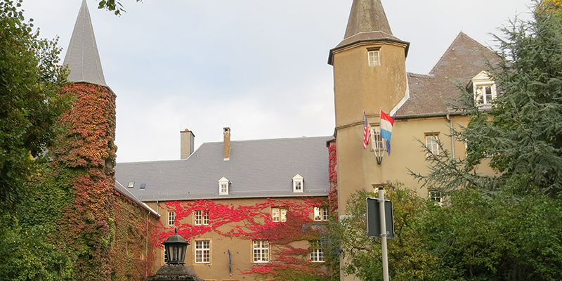 Exterior of the Chateau in autumn