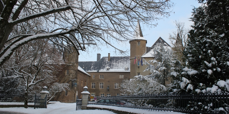 The Chateau Gates in winter