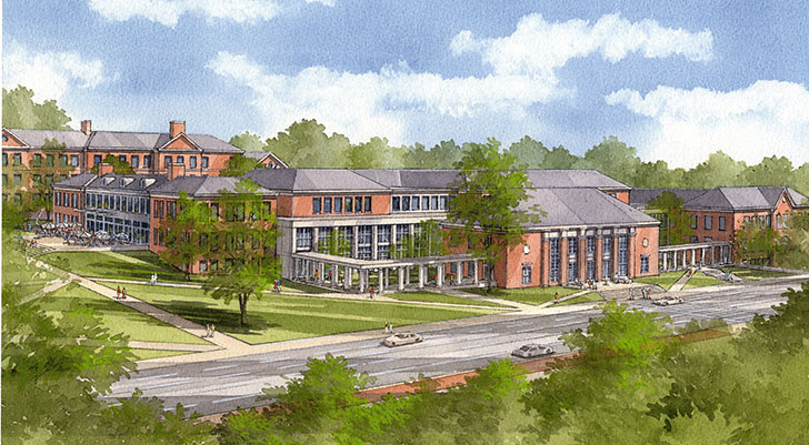 The Armstrong Student Center opens its doors in January 2014. It is being built through the support of more than 10,000 alumni and friends.