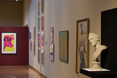 A view of the art on display.