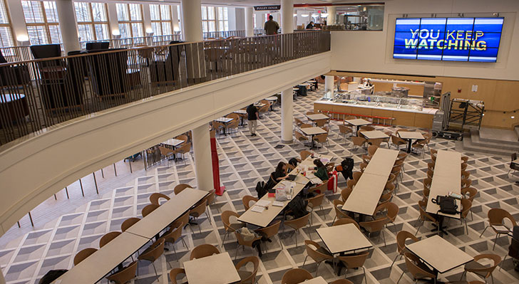 Armstrong Student Center features numerous dining options