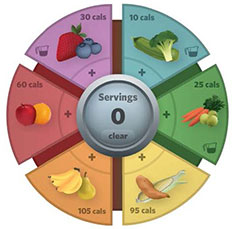 Fruits and Vegetable wheel