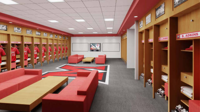 A rendering of the locker room from the Legacy Project