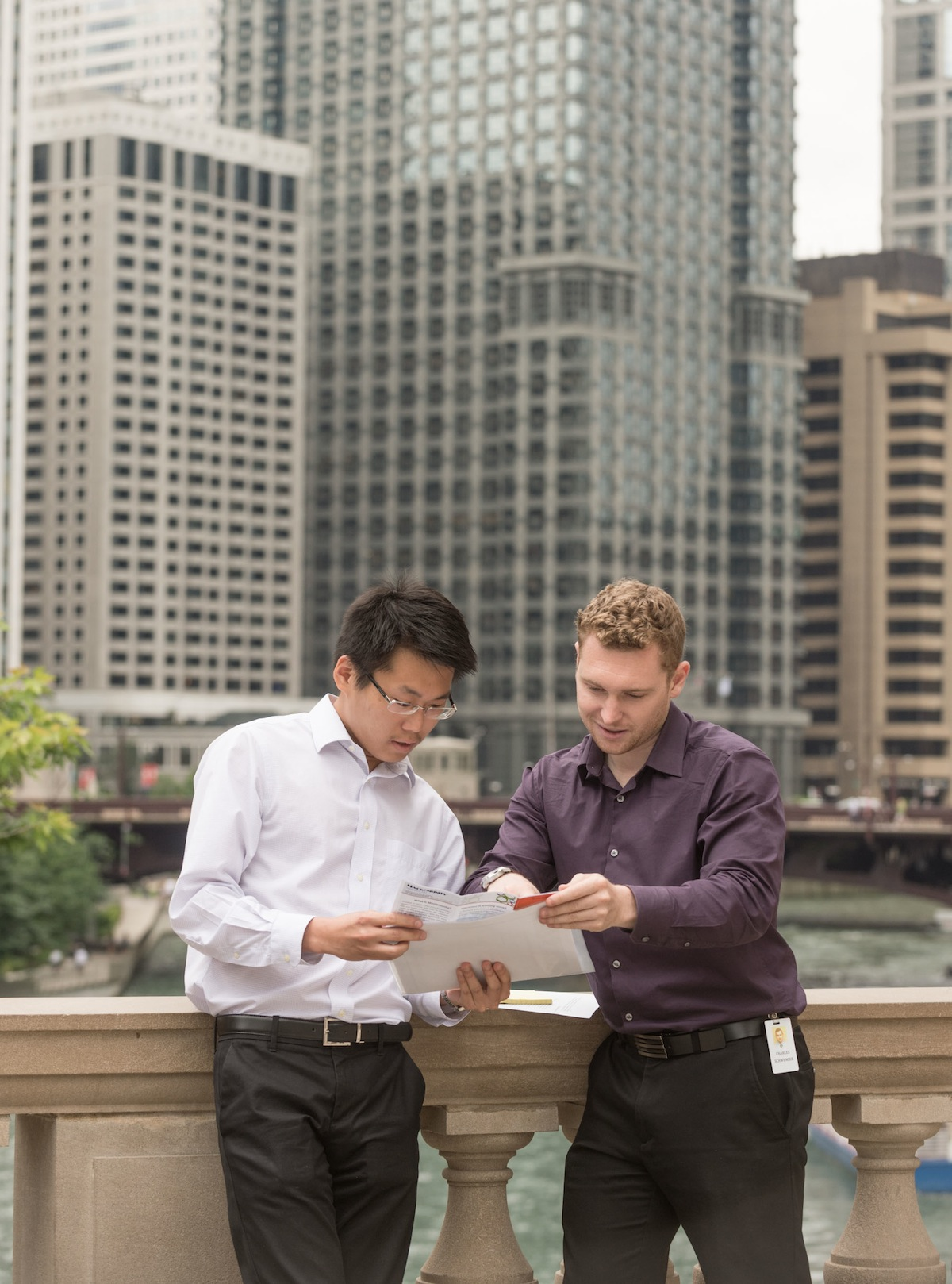 Male student intern in Chicago
