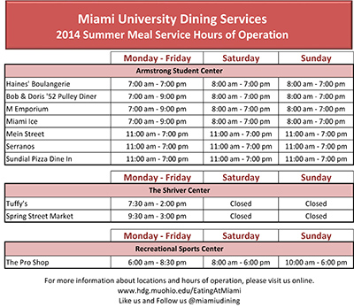 Dining hours