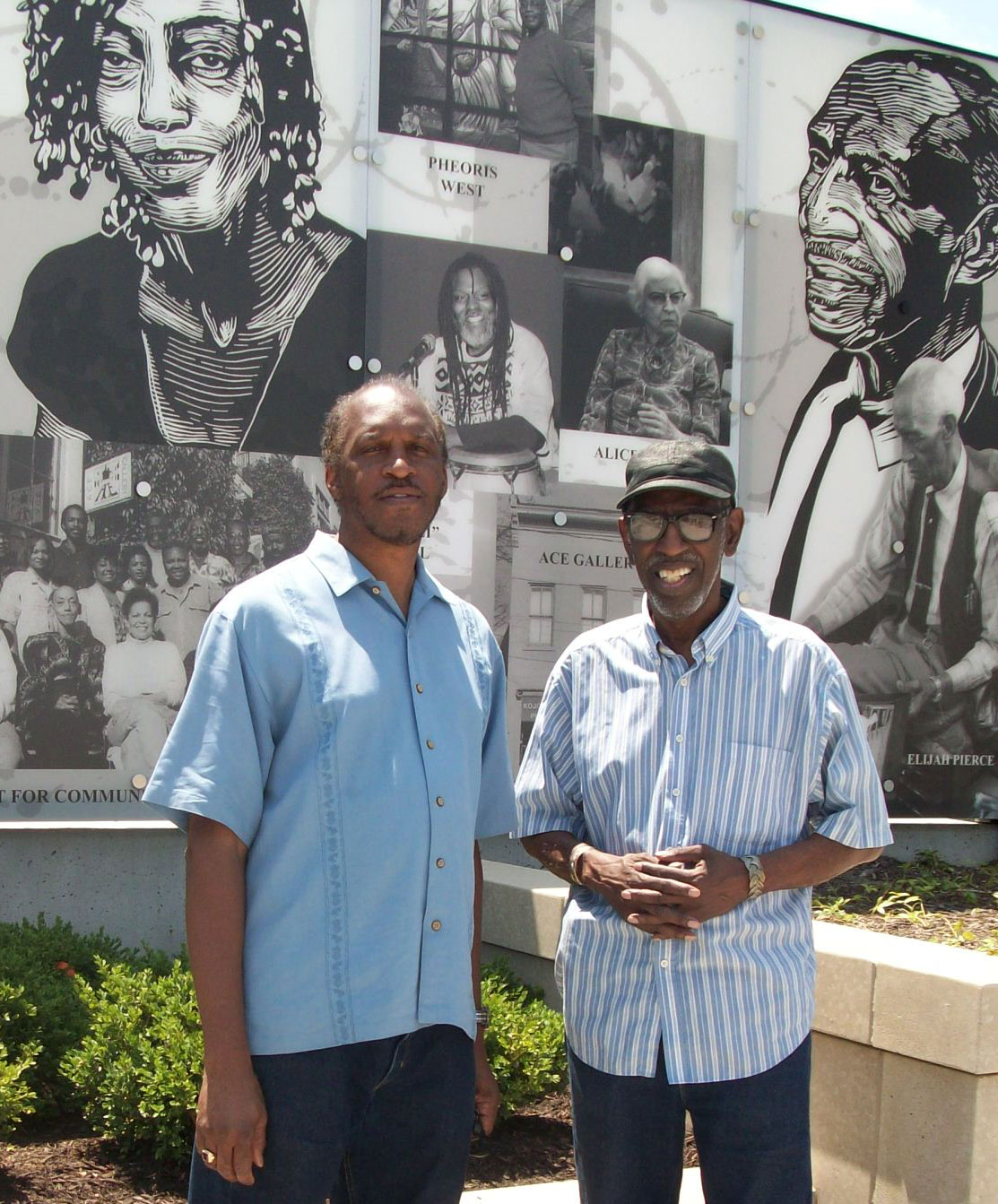 Larry Winston Collins, left, collaborated wth photographer Kolo Kamua for the Long Street Bridge project.