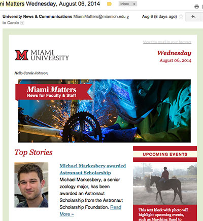 Miami Matters newsletter