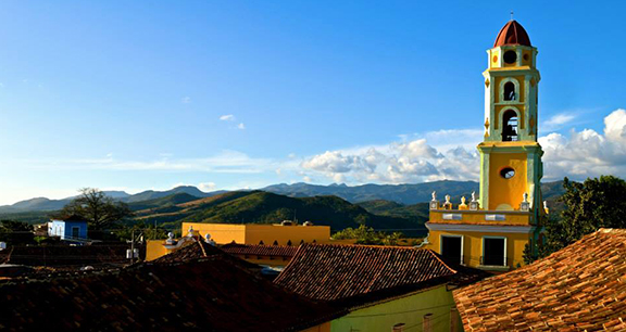 Overlooking the beautiful landscape and colorful buildings of Trinidad, Cuba. Miami students also experienced Havana and other locations during the Cuba in Transition winter term course (photo by Emily Tate).
