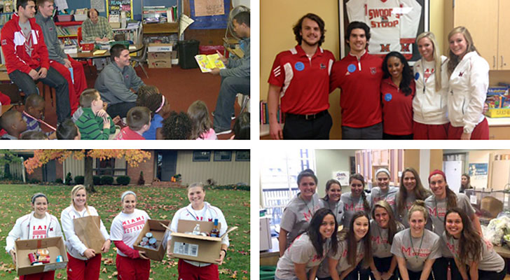 Student-athletes give back