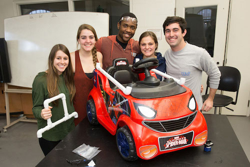 Students design car for children with mobility disabilities