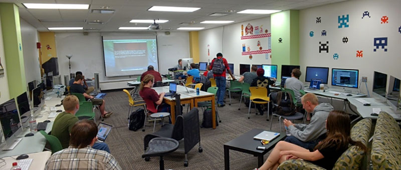 Miami University Libraries put together resources including a well-stocked game lab.