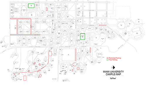 Faculty and staff parking restrictions during Move-In Day, Aug. 20 on university of louisiana at monroe map, new mexico university map, miami of ohio map, houston university map, university of pikeville map, midland university map, cal university map, university of illinois at urbana-champaign map, fort collins university map, mississippi university map, university of arkansas at little rock map, northwest christian university map, delaware university map, oxford ohio map, miami military base map, william woods university map, black hills state university map, maastricht university map, fort valley university map, tampa university map,