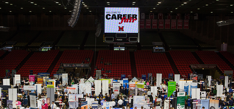 Miami's annual Career Fair is one of the largest events of its type in the country (photo of Career Fair 2014 by Ashley Niemann)