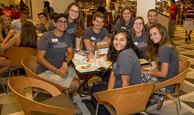 Miami students welcome incoming class.