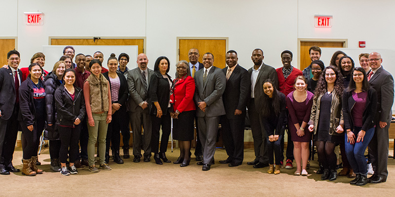 Leaders of minority-owned businesses shared expertise with students and met with representatives from career services.