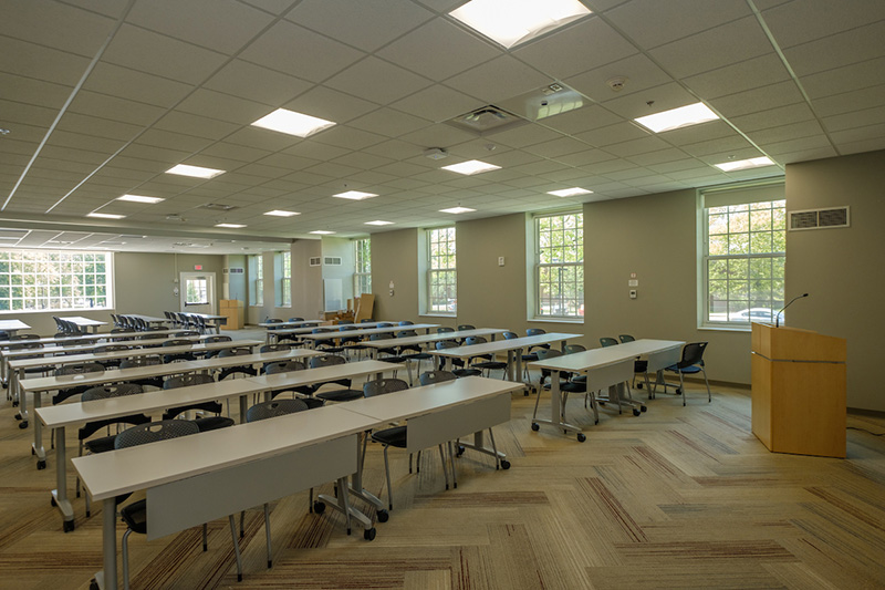 What used to be part of the Hamilton dining hall is now a meeting room for the sororities.