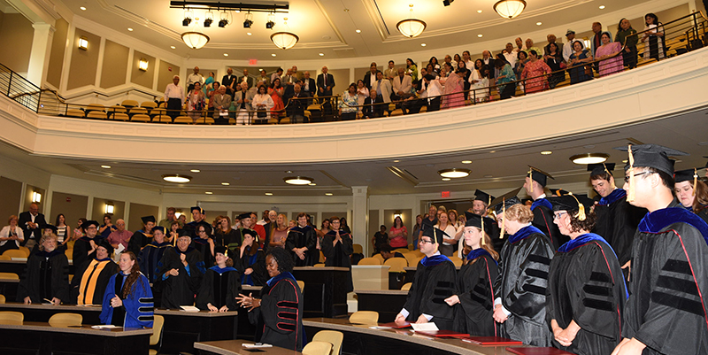 Miami recognized 22 students who received their doctorate degrees.