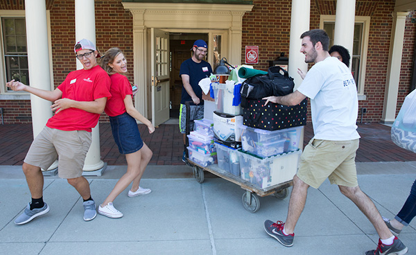 Students move in.