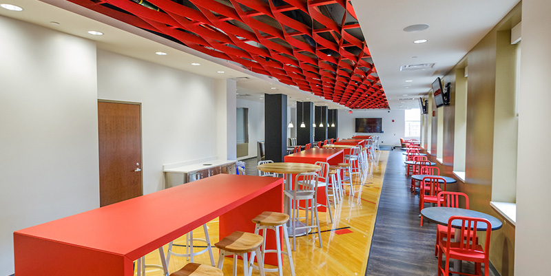 Armstrong Student Center's Red Zone features arena favorites.