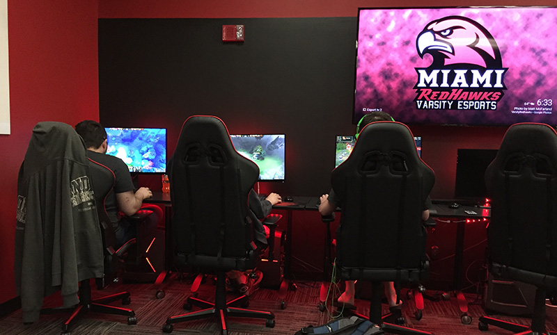 New esports arena provides dedicated space for newest varsity sport at Miami.