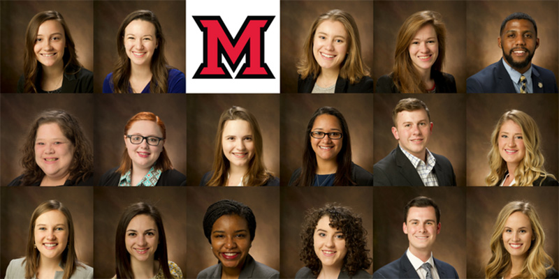 Students selected for Distinguished Service honor