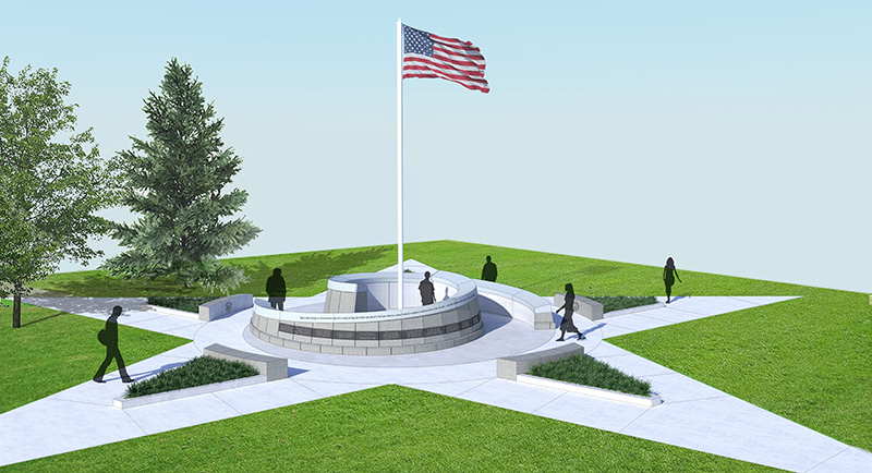 The Alumni Veteran's Tribute Memorial dedication to be held Nov. 11.