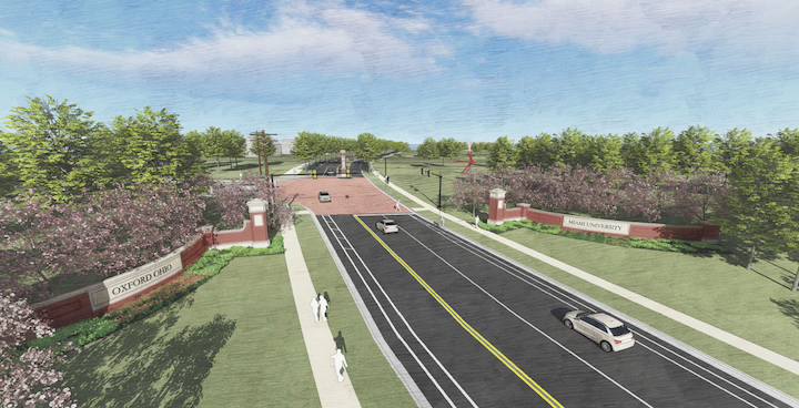 A rendering of the U. S. Route 27 construction project with work to begin in June.