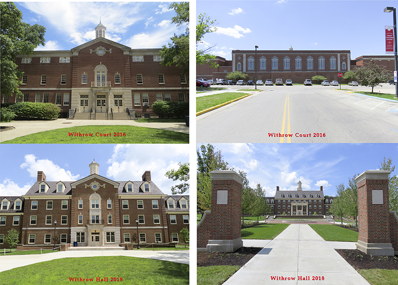 Before and after photos of Withrow renovation