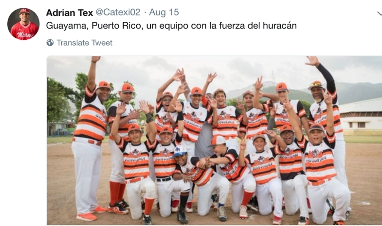 The Little League team from Guayama, Puerto Rico won the Caribbean Region Little League Championship and advanced to the Little League World Series this summer. The team, which is from the hometown of Miami RedHawk baseball player and senior Adrian Texidor, is coached by his father. The Miami community helped raise funds for the town after Hurricane Maria struck.
