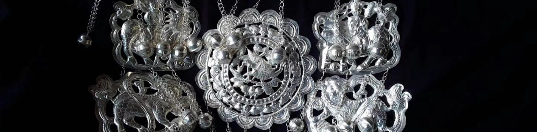 A piece of Asian filigree created by silversmiths in the Chinese Kongbai Village.